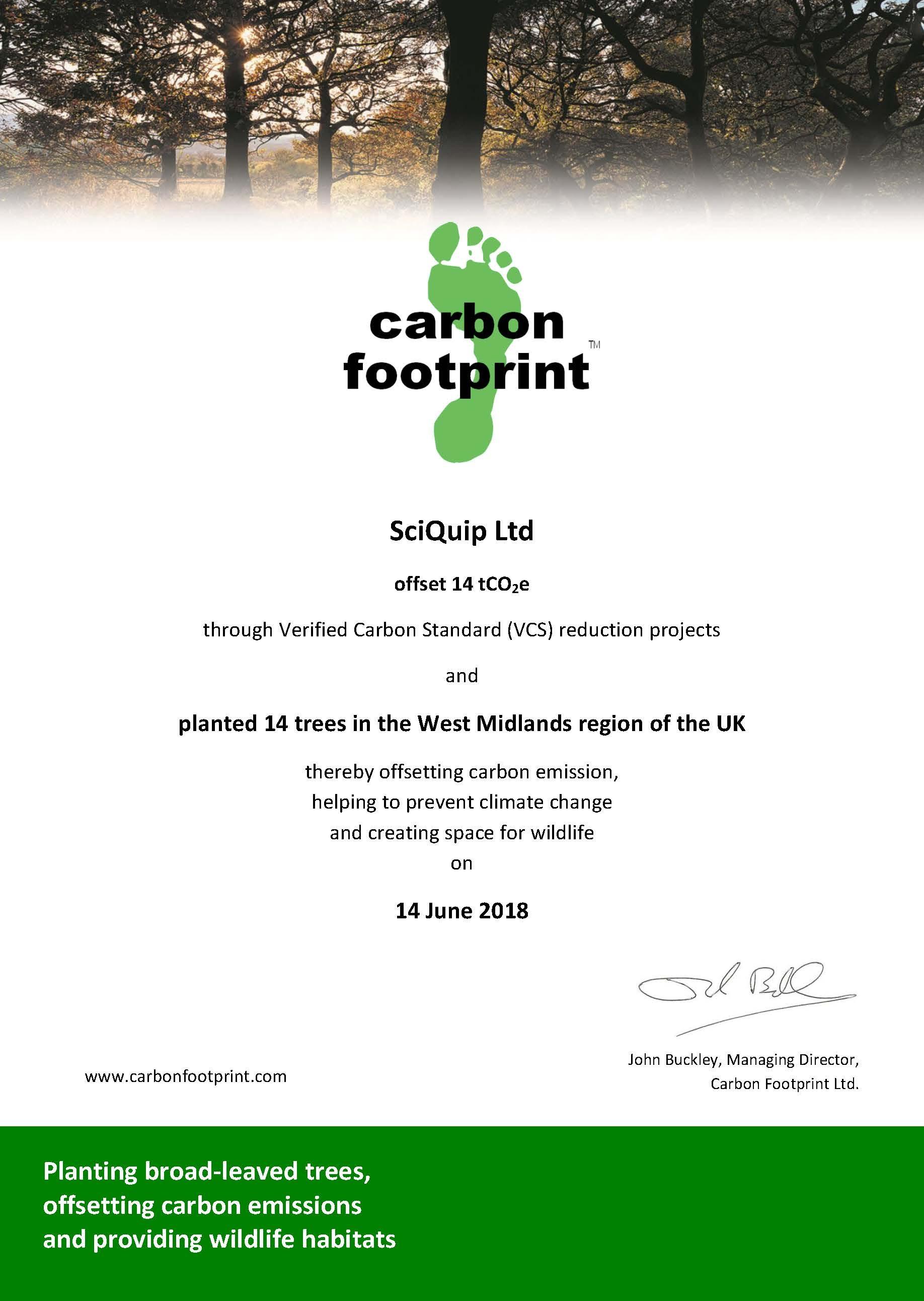 Carbon Offset 2018